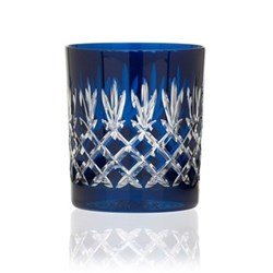 Pineapple Pair of double old fashioned tumblers, 28cl, prussian blue