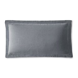 King size Oxford pillowcase, 50 x 90cm, lens charcoal