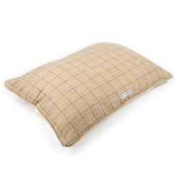 Pillow bed, large, 79 x 99cm, oatmeal check