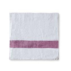 Arles Napkin, 47 x 47cm, rasberry stripe