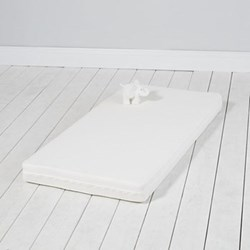 Cot bed mattress, L140 x W70cm, white with natural coir filling