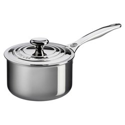 Signature Saucepan with lid, 18cm, stainless steel