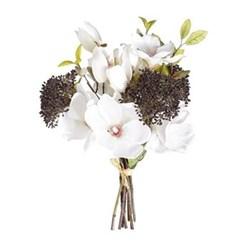 Faux magnolia and viburnum berry posy 33cm