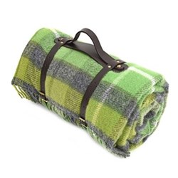 Picnic rug, waterproof, leather straps 145 x 183cm