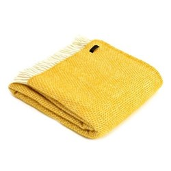 Beehive Throw, 150 x 183cm, yellow