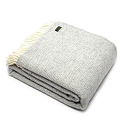 Beehive Throw, 150 x 183cm, grey