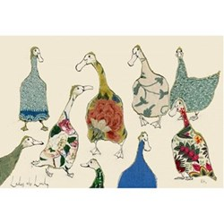 Ladies Who Lunch Mounted print, 70 x 50cm, Mounted