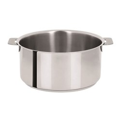 Mutine Stewpan without handles, D26cm - 6.6 litre, stainless steel