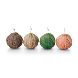 Gomitolo 159 Set of 4 candles, small, 9.5cm