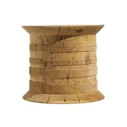 Cedar Spool Side table, 45 x 39cm, cedar wood