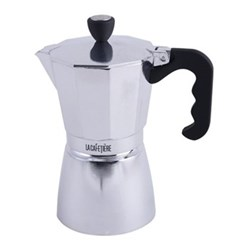 Classic 6 cup espresso coffee maker, 17.5 x 10 x 20.5cm - 30cl, polished