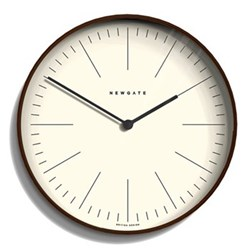 Mr Clarke Wall clock, 53 x 53 x 5.3cm, dark stain finish
