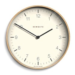 Mr Clarke Wall clock, 53 x 53 x 5.3cm, pale wood finish