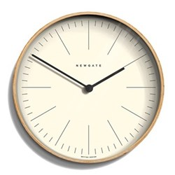 Mr Clarke Wall clock, 40 x 40 x 4.7cm, pale wood finish