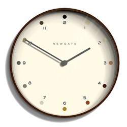 Mr Clarke Wall clock, 40 x 40 x 4.7cm, dark plywood finish