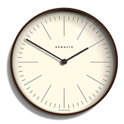 Mr Clarke Wall clock, 28 x 28 x 4.3cm, dark stain finish