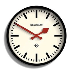 Station Wall clock, 30 x 30 x 7cm, black