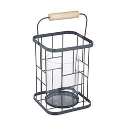 Wire lantern 17.5 x 24cm