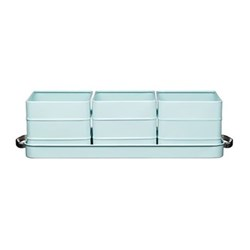 Herb pots with water tray 40 x 12 x 10.5cm