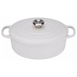 Signature Cast Iron Oval casserole, 27 x 21 x 10cm - 4.1 litre, cotton
