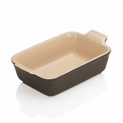 Stoneware - Heritage Rectangular dish, 19 x 13.8 x 5.5cm - 1.1 litre, satin black