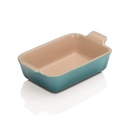 Stoneware - Heritage Rectangular dish, 19 x 13.8 x 5.5cm - 1.1 litre, teal