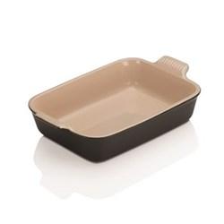 Stoneware - Heritage Rectangular dish, 26.5 x 19 x 6cm - 2.3 litre, satin black