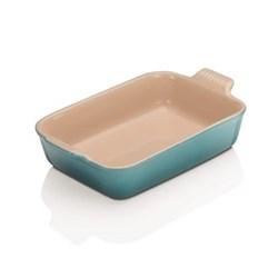 Stoneware - Heritage Rectangular dish, 26.5 x 19 x 6cm - 2.3 litre, teal