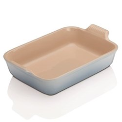 Stoneware - Heritage Rectangular dish, 32 x 28 x 6.5cm - 3.85 litre, coastal blue