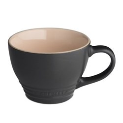 Stoneware Grand mug, 40cl, satin black