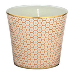 Tresor Bleu Candle pot, 8.5cm, orange
