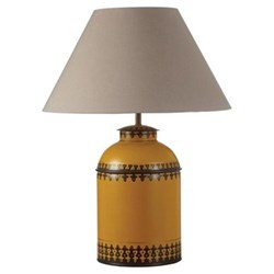 Berber Table lamp base only, W23 x D23 x H37cm, yellow