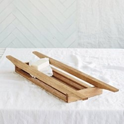 Bath tidy, L70 x W19 x H6cm, wood