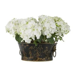 Chinoiserie Planter, D37 x H15cm, black