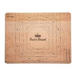 Pastry board with measurements display, 45 x 35cm, wooden