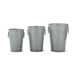 Set of 3 planters 21 x 17.5, 26 x 22.5, 31 x 29.5cm
