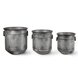 Set of 3 planters 37 x 33cm, 40 x 38cm, 47 x 42cm