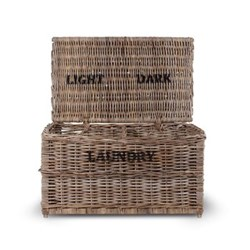 Light and dark laundry chest 42 x 79 x 48cm