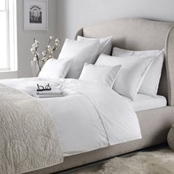 Avignon - 200 Thread Count King size duvet cover, W225 x L220cm, white