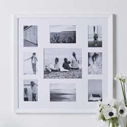 Fine Wood Photograph frame - multi aperture, 62 x 62cm, white