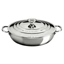 Signature Shallow casserole with lid, 30cm, stainless steel