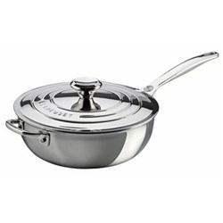 Signature Chef's pan with lid, 24cm, stainless steel