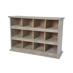 Chedworth 12 shoe locker, H66 x W97 x D35cm, wood
