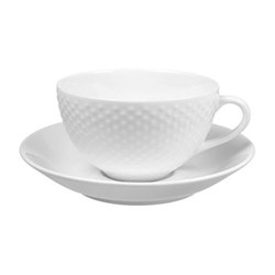 cup and saucer 30cl cup and saucer 30cl blond dotted design house stockholm - Dinnerware Design House Stockholm