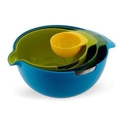 Nest mix 4-piece nesting bowl set with egg yolk separator, multicolour