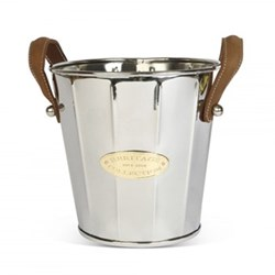 Wine cooler with leather handle 22 x 23cm