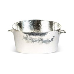 Palace Champagne bath - large, 22.5 x 45 x 29cm, silver plate, stainless steel and brass