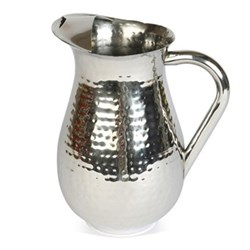 Champagne Hammered Tall pitcher, 23cm - 2.25 litre, stainless steel