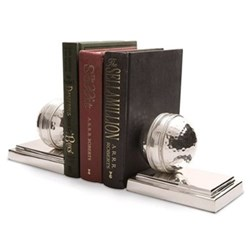 Cricket Ball Pair of bookends, 9.5 x 22 x 7.5cm, nickel plate