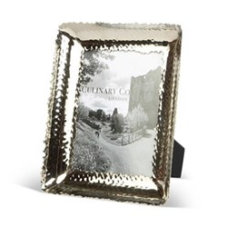 """Champagne Hammered Photograph frame, 5 x 7"""", stainless steel and glass"""